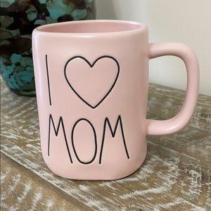 RAE DUNN I LOVE MOM PINK COFFEE/TEA MUG